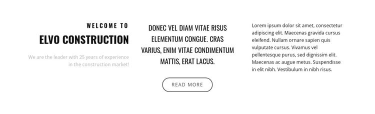 Text in three columns Website Builder Software