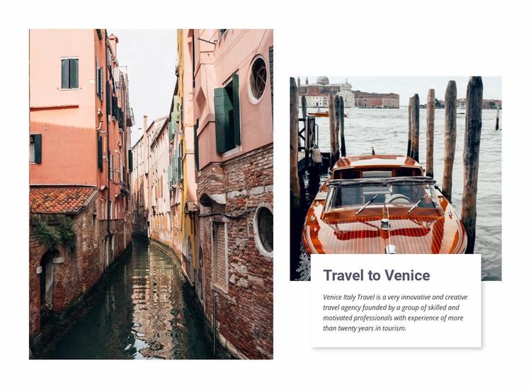 Day trip In Venice Website Template