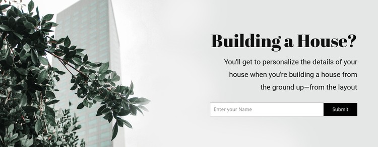 Building a house CSS Template