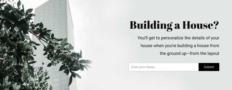 Building a house Template