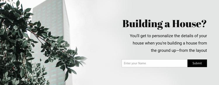 Building a house Website Mockup