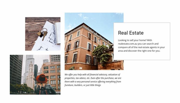 Luxury residences Website Template