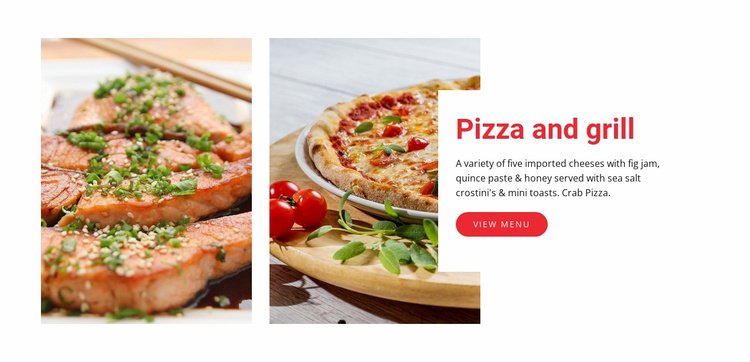 Pizza cafe restaurant Website Template