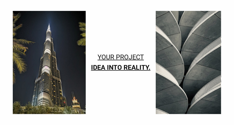 Your project idea into reality Website Template