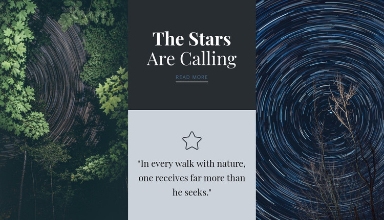 The stars are calling  HTML Template