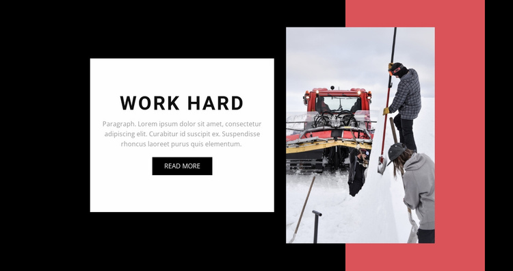 Work hard  Website Template