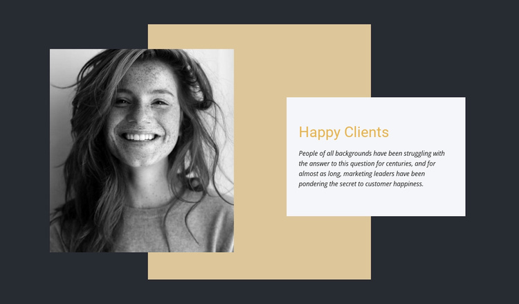 Our happy clients Website Template