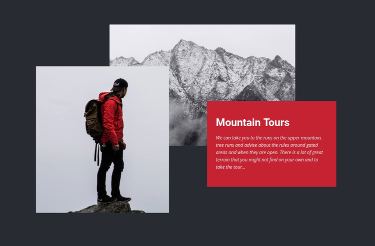 Conquering the peaks Website Builder Software