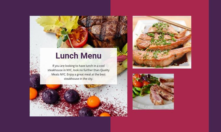 Lunch Menu HTML Template
