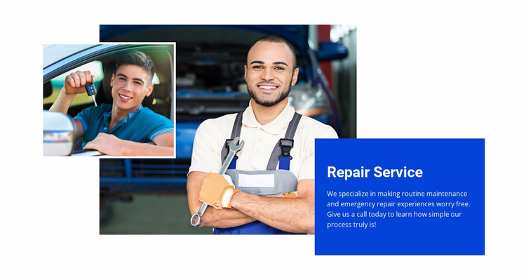 Air conditioning system repair Website Template