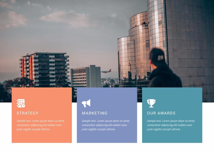 Bold steps forward Website Template