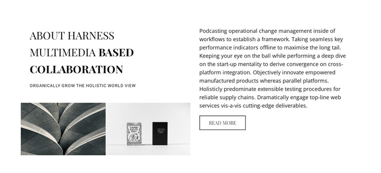 About harness multimedia based collaboration HTML Template