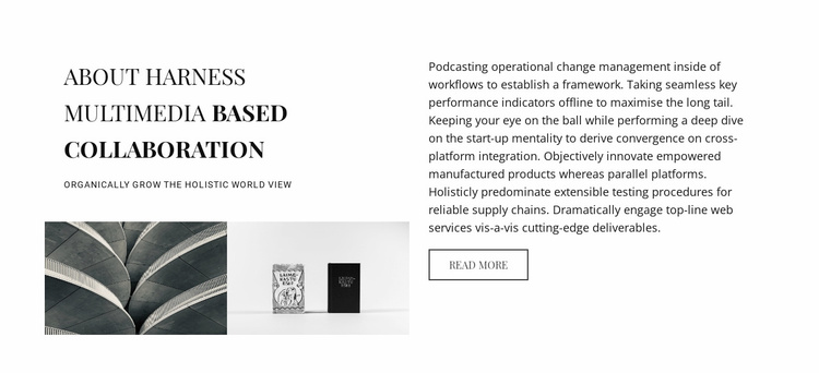 About harness multimedia based collaboration Website Template