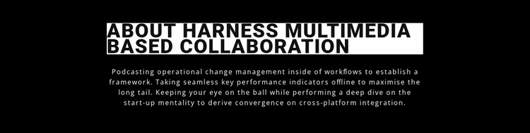 Harness multimedia and collaboration Website Template
