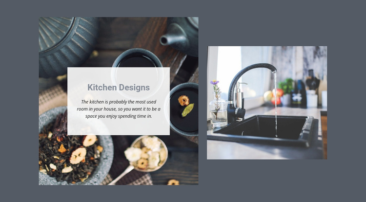 Kitchen Designs Website Template