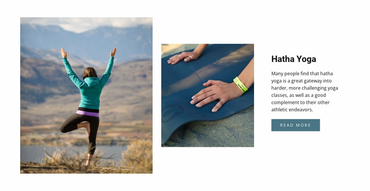 Yoga healthy lifestyle Website Template