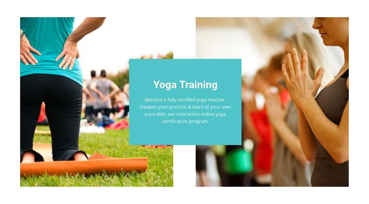 Yoga training  HTML Template