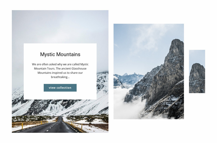 Mystic mountains Website Template