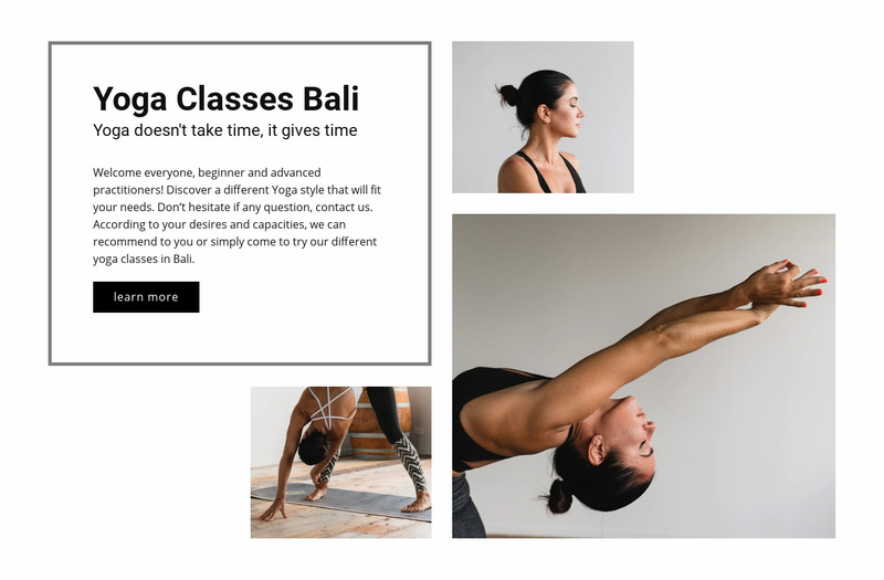 Yoga healthy studio Web Page Designer