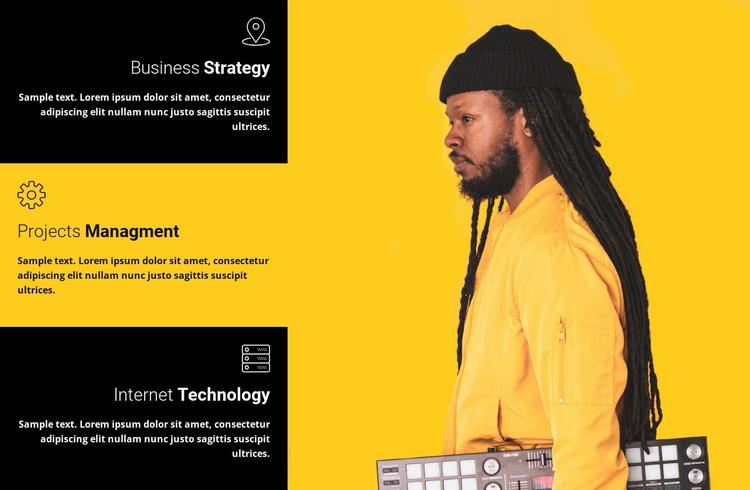 Our work advantages Landing Page