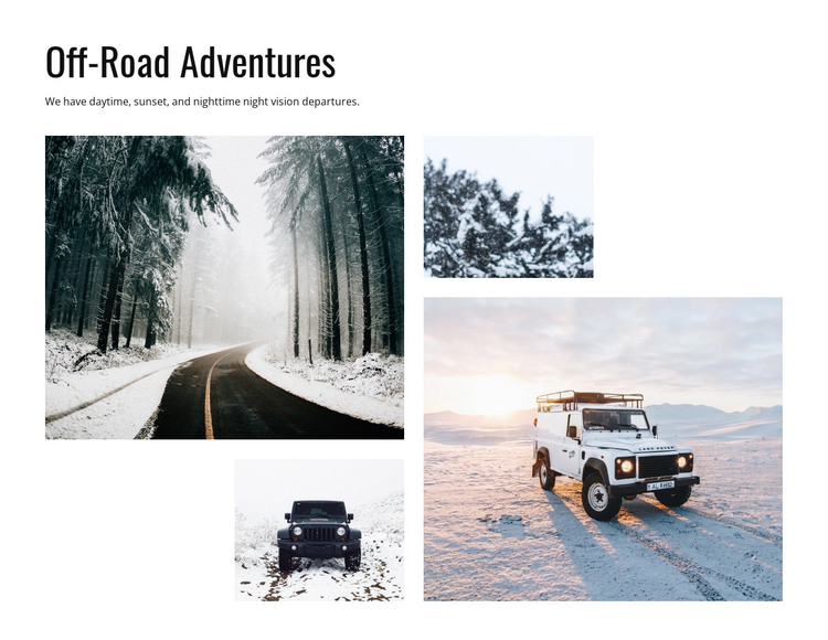 Off Road Adventures HTML Template