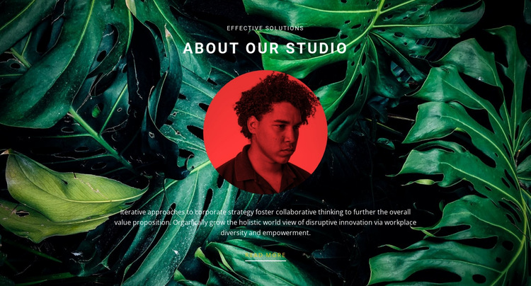 About studio on green background HTML5 Template