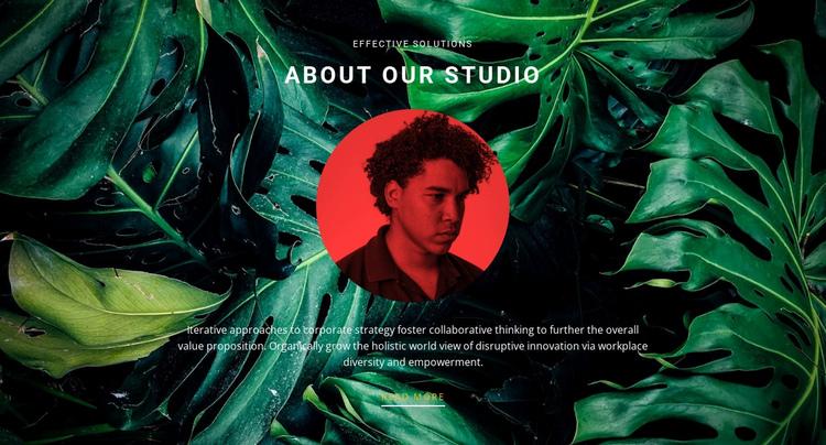 About studio on green background Website Builder Software