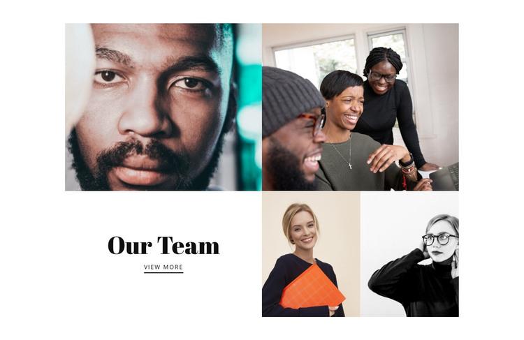 Our team photos HTML Template