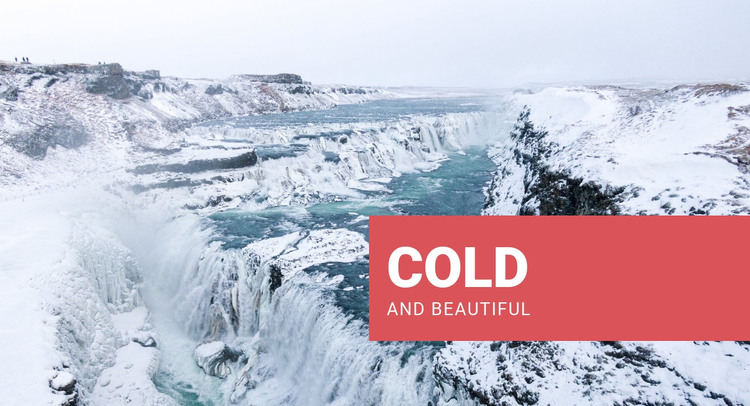 Cold and beautiful Homepage Design