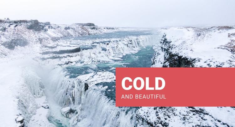 Cold and beautiful WordPress Website Builder