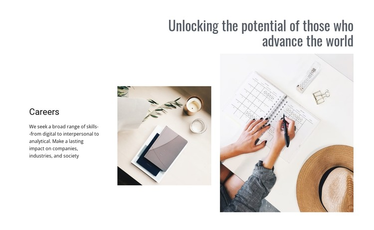 Unlocking your potential CSS Template