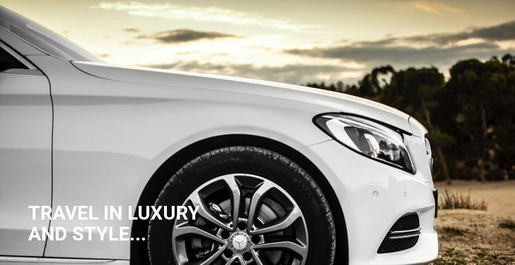 Luxury Style Car One Page Template