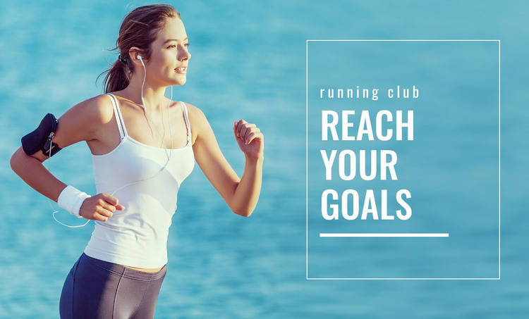 Pick your running goal HTML Template