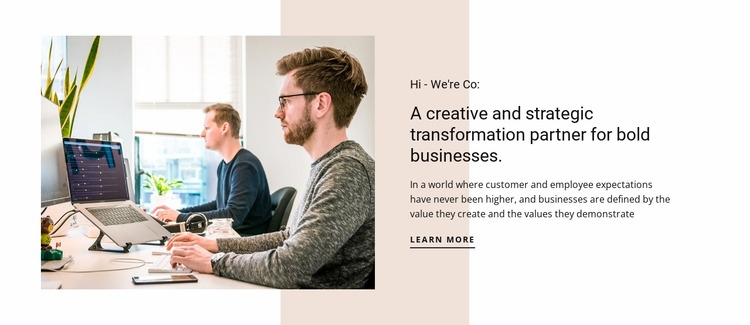 Creative thinking for business Html Website Builder