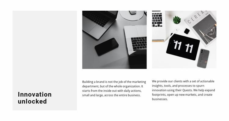 Innovative approach Html Website Builder