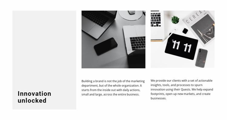 Innovative approach Website Template