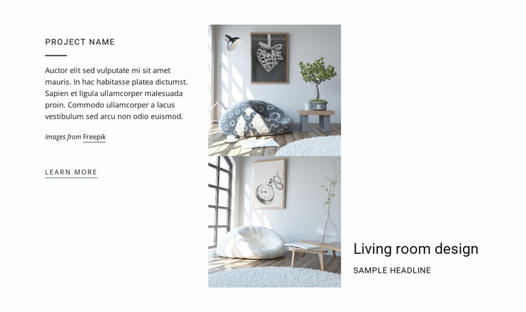 Living Room Design Website Template