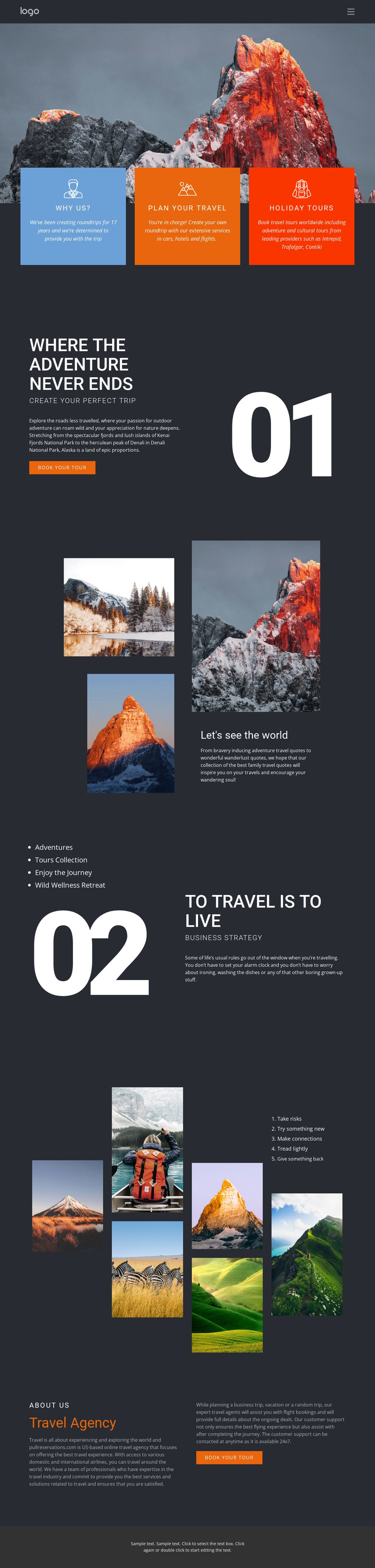 Mountain beauty in travel HTML5 Template