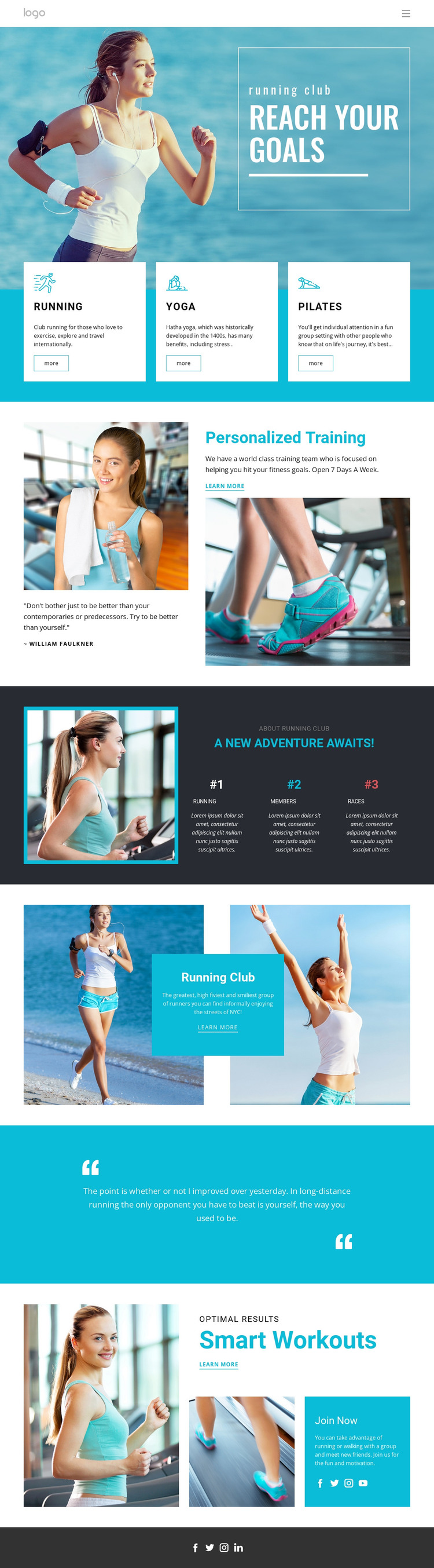 Reach Your Sport Goals Web Design
