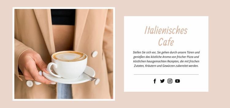 Italienisches Café Website-Vorlage