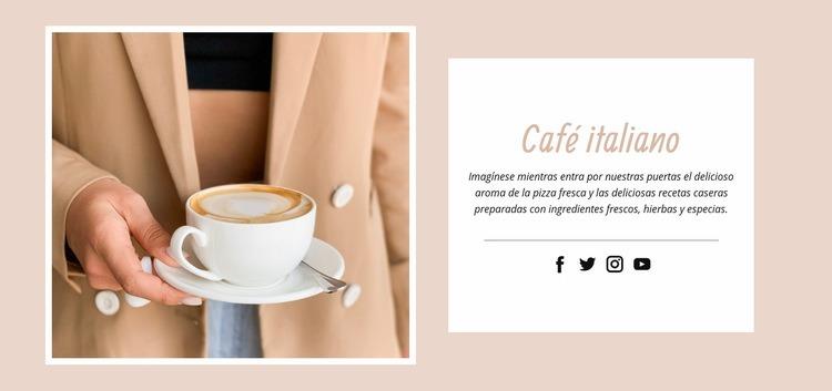Café italiano Plantilla de sitio web