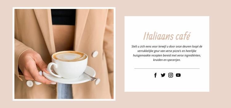 Itallian café Website sjabloon