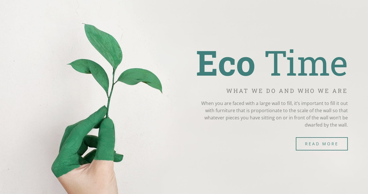 Eco time Website Template
