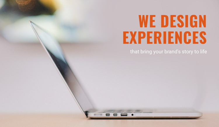 Brand experience agency Homepage Design