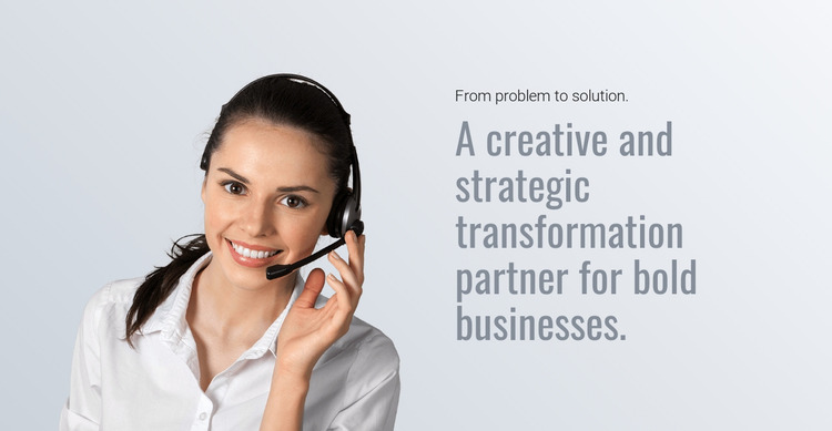 Transform corporate finance Website Mockup