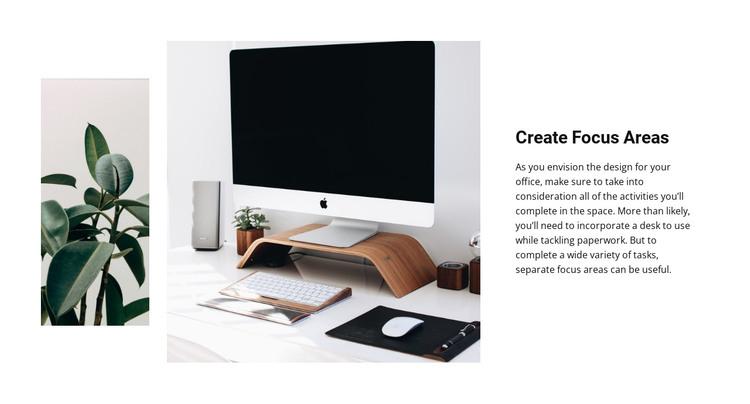 Create focus areas HTML Template