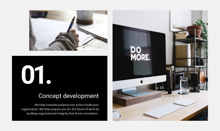 We create experiences that people love One Page Template