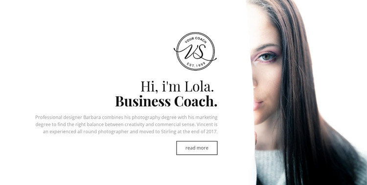 Professional business coach  HTML Template