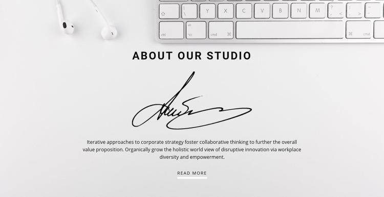 Simple marketing Web Page Design