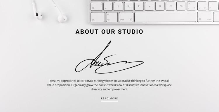 Simple marketing Website Mockup